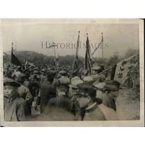 1923 Press Photo Labor Agitators, May Demonstration, Shiba Park, Tokyo