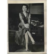 1932 Press Photo Louise Margotte, Actress - nex00660