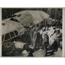 1939 Press Photo Stratoliner Crash, F. Glass, F. Caldwell, T. Hardin, P. Salzman