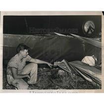 1937 Press Photo Plane that Charles Wilson Crahsed In - nea48755