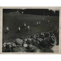 1921 Press Photo Hurlingham Polo Match with Americans vs. Freebooters Action