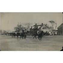 1920 Press Photo Polo match action in progress