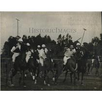 1912 Press Photo A polo match on a pich in progress