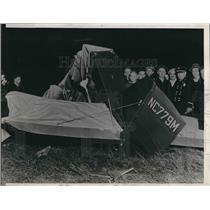 1938 Press Photo Luther Martin crashes plane, dies near Lisle, IL - nea60581