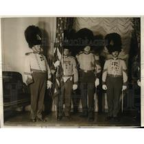 1930 Press Photo Color Guard at Hotel Astor, NYC Howell,Marks,Reid,Magor