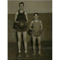 1931 Press Photo Orville Prior, Frank Soja, Tech High School Basketball