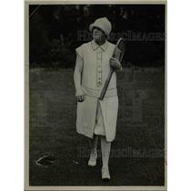 1925 Press Photo Lady Tennis Player.