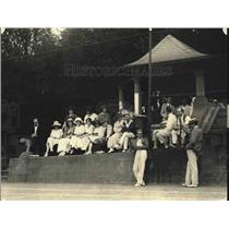 1922 Press Photo Diplomatic Tennis Tournament