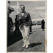 1934 Press Photo Mr. Robert Johnson, vice president of Time magazine