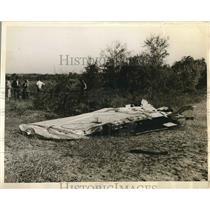 1938 Press Photo Airline Wreckage Montgomery Alabama - nea62193