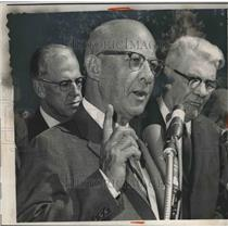 1963 Press Photo Supreme Court Justice Arthur Goldberg & ROy Davis of Union