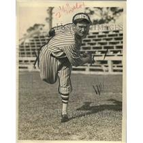 1927 Press Photo W.H. Clarkson Pitcher New York Giants Spring Training Camp MLB