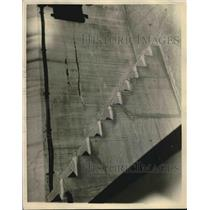 1924 Press Photo Cracked And Crumbling Masonry with Pacific Coast Defense