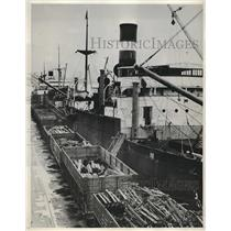 1933 Press Photo Shipment Of Steel Ordered By Russia In 1917 - nea62813