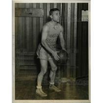 1927 Press Photo Jack Sandack, Basketball Guard, New York University