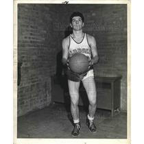 1943 Press Photo High school basketball player Al Francesconi