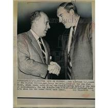 1965 Press Photo Red Auerbach of the Boston Celtics and Harry Gallatin
