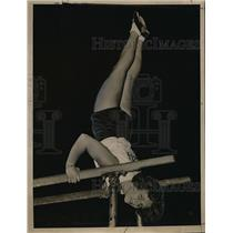 1936 Press Photo All around gymnastic champ, Ruth Svhroeder