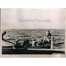 1936 Press Photo Frank Silva rescued by Coast Guard after appendicitis at sea