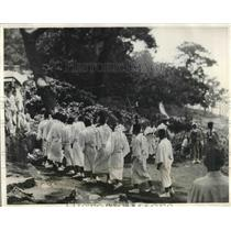 1931 Press Photo Annual Religious Dance On Hatbushima Island In Japan