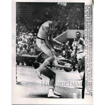 1962 Press Photo Player paying leap-frog as he fouls