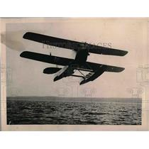 1923 Press Photo Seaplane Invented By Dr. Kaspar Ascends