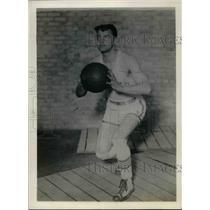 1928 Press Photo Clarence Simpson, Basketball Center, Drake University