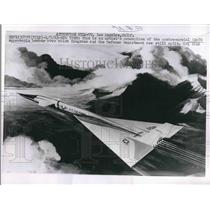 1963 Press Photo Artist's Idea of RS-70 Supersonic Bomber