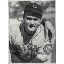 1932 Press Photo Frank Henry of the Chicago Cubs