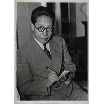 1937 Press Photo Reporter M. Kato in Washington DC