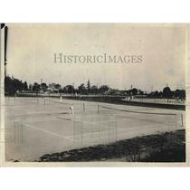 1918 Press Photo Municipal Tennis Courts, Woodland Park, Seattle, Washington