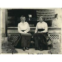 1919 Press Photo Mrs. Gordy, Mrs. Rickenbacher, War Mothers of Columbus