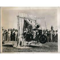 1937 Press Photo Daredevil. L. W. Patrick performing stunts