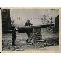 1922 Press Photo Point Pleasant Ohio General Grant Born Here Cannon Civil War