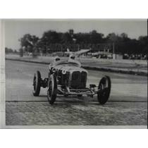 1933 Press Photo Racer Stubby Stubblefield Speed Over 114 MPH
