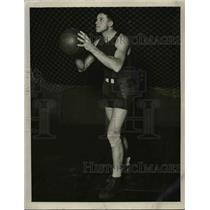 1929 Press Photo Russell Walter, Basketball Center, New York