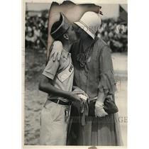 1930 Press Photo James Lee & Mom After Marble Championship
