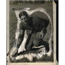 1924 Press Photo Northwestern University football captain Bob Weinecke