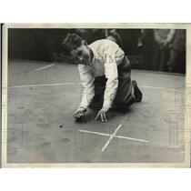 1929 Press Photo Charley Albany Philadelphia marble Tourney