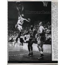 1963 Press Photo Tom Heinsohn, Celtics, Tom Hawkins, Royals, Tom Sanders