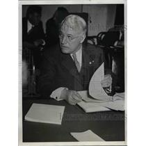 1934 Press Photo A. F. Whitney, President, Brotherhood of Railroad Trainmen