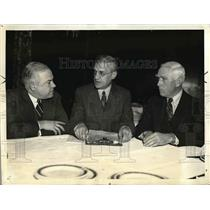 1936 Press Photo Doanld Barnes Owner St Louis Browns, Wm Harridge Pres Am Legaue