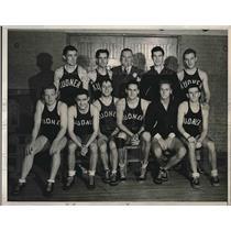 1939 Press Photo Arthur Kudner Inc. Basketball Team