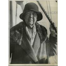 1929 Press Photo 87 Yr. Old Phoebe Rideout Who Traveled the Globe for a Year