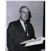1964 Press Photo HE Gilbert President of Brotherhood of Locomotive Firemen & Eng