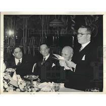 1939 Press Photo Quesada, LaGuardia, Gollan at Dinner in Honor of Jose S Gollan