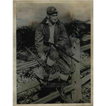 1937 Press Photo Mickey Cochrane Tigers - nea54288