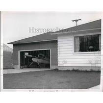 1955 Press Photo Plane parked at home of Vincent Dostert