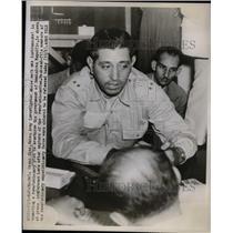 1947 Press Photo Oscar Diaz, Cuban Army investigator in Havana - nea66574