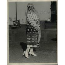1927 Press Photo Rumanian dancer, Helen Cabas in native costume